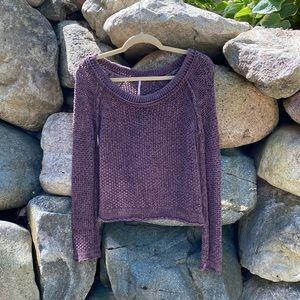 Free people long sleeve knit sweater